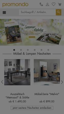 Vorschau der mobilen Webseite www.promondo.de, Promondo Verlag & Versand GmbH