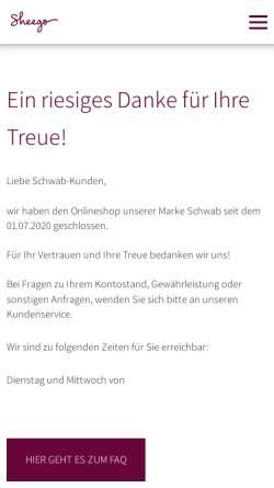 Vorschau der mobilen Webseite www.schwab.de, Schwab Versand GmbH