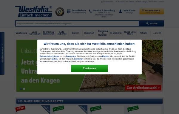 Vorschau von www.westfalia.de, Westfalia Werkzeugco. GmbH & Co KG
