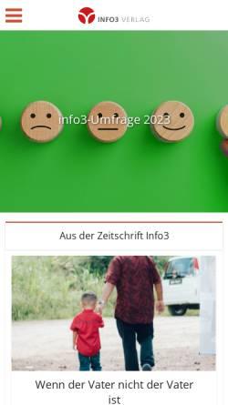 Vorschau der mobilen Webseite www.info3-magazin.de, Info3 - Anthroposophie heute