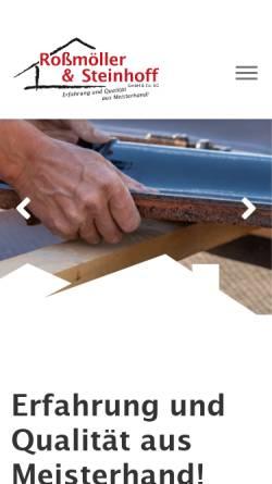 Vorschau der mobilen Webseite www.holzbau-rs.de, Albert Steinhoff GmbH