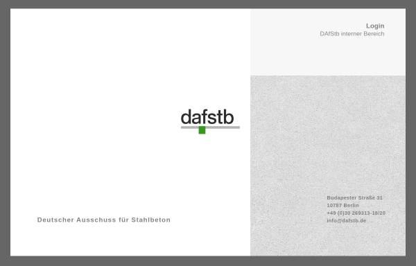 Vorschau von www.dafstb.de, Deutscher Ausschuss für Stahlbeton (DAfStb)