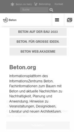 Vorschau der mobilen Webseite www.ebeton.de, eBeton