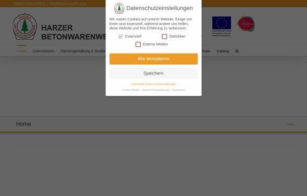 Vorschau von www.harzer-beton.com, Harzer Betonwarenwerke