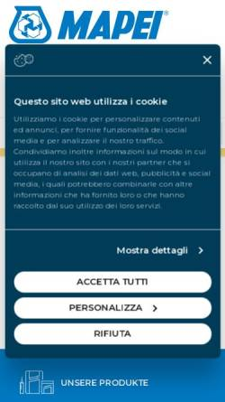 Vorschau der mobilen Webseite www.mapei.ch, MAPEI Suisse SA