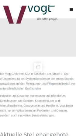 Vorschau der mobilen Webseite www.vogt-gmbh.de, Vogt GmbH