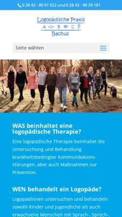 Vorschau der mobilen Webseite www.logopaedie-bachus.de, Logopädische Praxis Bachus
