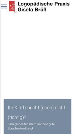 Vorschau der mobilen Webseite www.logopädie-lahnau.de, Logopädische Praxis Bettina Pagels