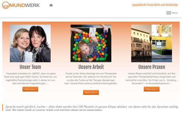 Vorschau von www.mundwerk-arnsberg.de, Logopädische Praxis Wefing und Huckschlag