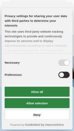 Vorschau der mobilen Webseite www.logowitten.de, Logopädische Praxisgemeinschaft im Therapiepunkt Witten