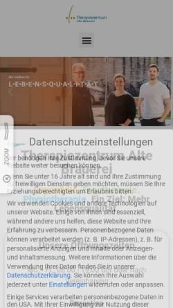 Vorschau der mobilen Webseite www.therapiezentrum-pb.de, Michael Lücking