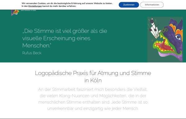 Vorschau von www.stimmigestimme.de, Praxis für Atmung und Stimme