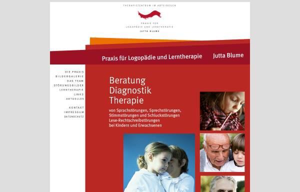 Vorschau von www.juttablume.de, Praxis für Logopädie Jutta Blume