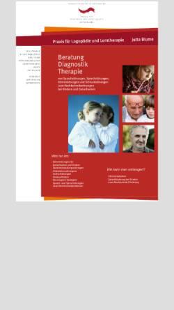 Vorschau der mobilen Webseite www.juttablume.de, Praxis für Logopädie Jutta Blume