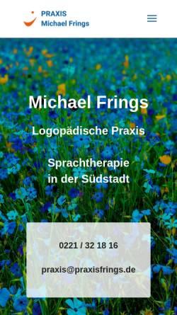 Vorschau der mobilen Webseite www.praxisfrings.de, Praxis für Stimm- und Sprachbehandlung Michael Frings