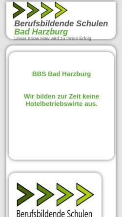 Vorschau der mobilen Webseite www.hotelfachschule-harz.de, Hotelfachschule Harz