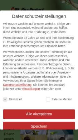 Vorschau der mobilen Webseite www.oere-bio-protect.de, Öre Bio-Protect - Biologischer Pflanzenschutz GmbH