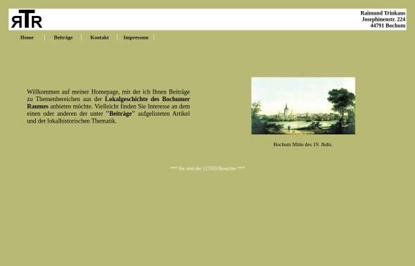 Vorschau von www.raimund-trinkaus.de, Trinkaus, Raimund: Bochumer Geschichte