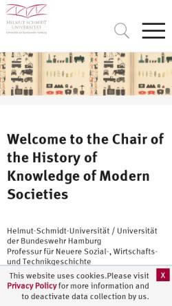 Vorschau der mobilen Webseite www.hsu-hh.de, Braun, Hans-Joachim