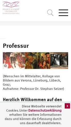 Vorschau der mobilen Webseite www.hsu-hh.de, Selzer, Prof. Dr. Stephan