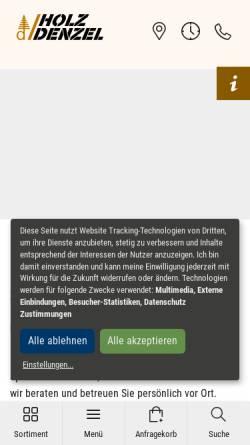 Vorschau der mobilen Webseite www.rollladendaemmung.de, Alois Denzel KG