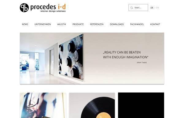 Vorschau von www.procedes-i-d.de, Procedes i-d interior design GmbH