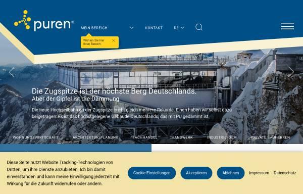 Vorschau von www.puren.com, Puren Schaumstoff GmbH