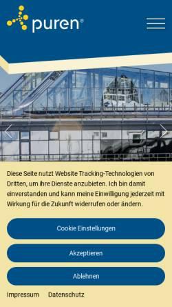 Vorschau der mobilen Webseite www.puren.com, Puren Schaumstoff GmbH