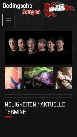 Vorschau der mobilen Webseite www.oedingsche-jonges.de, Oedingsche Jonges