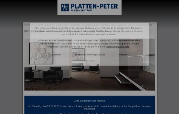 Vorschau von www.platten-peter.de, Platten-Peter Fliesenzentrum Nord GmbH und Co. KG