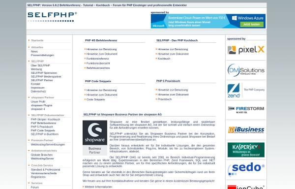 Vorschau von www.selfphp.de, SelfPHP