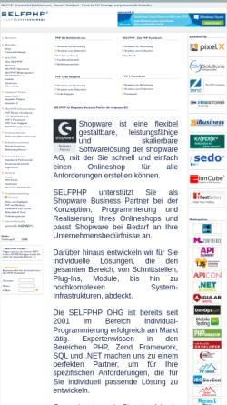 Vorschau der mobilen Webseite www.selfphp.de, SelfPHP