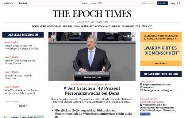 Vorschau von www.epochtimes.de, Epoch Times