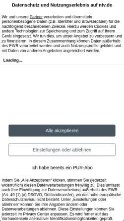 Vorschau der mobilen Webseite www.n-tv.de, n-tv.de