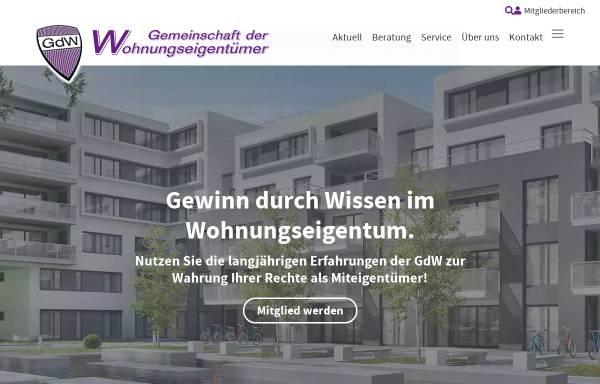 Vorschau von www.gdw.at, GdW - Gemeinschaft der Wohnungseigentümer