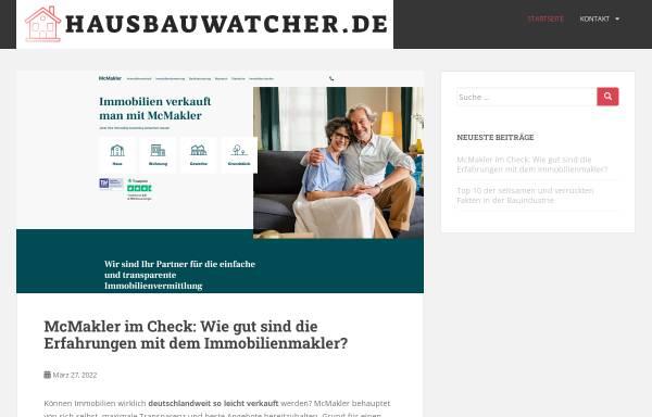 Vorschau von www.hausbauwatcher.de, HausbauWatcher Deutschland