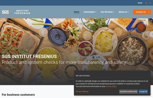 Vorschau von qualitaetssiegel.net, SGS Institut Fresenius GmbH
