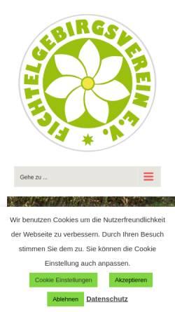 Vorschau der mobilen Webseite fichtelgebirgsverein.de, Fichtelgebirgsverein e. V.