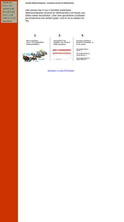 Vorschau der mobilen Webseite www.virtuelle-weihnachtskarten.de, Virtuelle Weihnachtskarten