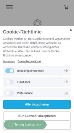 Vorschau der mobilen Webseite www.elementar-brautkleider.de, Winterberg, Rieke