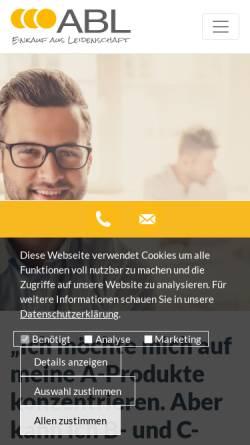 Vorschau der mobilen Webseite www.abl-versorgung.de, ABL Allianz für Beschaffung und Logistik GmbH & Co. KG