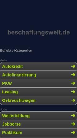 Vorschau der mobilen Webseite www.beschaffungswelt.de, Beschaffungswelt by Explido Sourcing & Services GmbH & Co. KG
