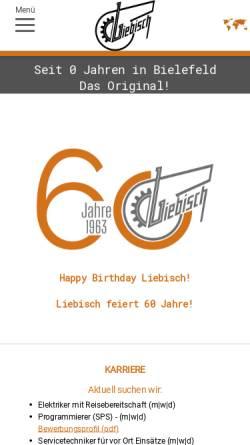 Vorschau der mobilen Webseite www.liebisch.com, Gebr. Liebisch GmbH & Co.