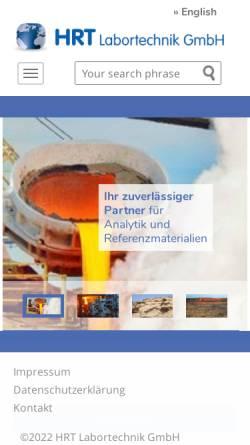 Vorschau der mobilen Webseite www.hrt-labortechnik.de, HRT Labortechnik GmbH