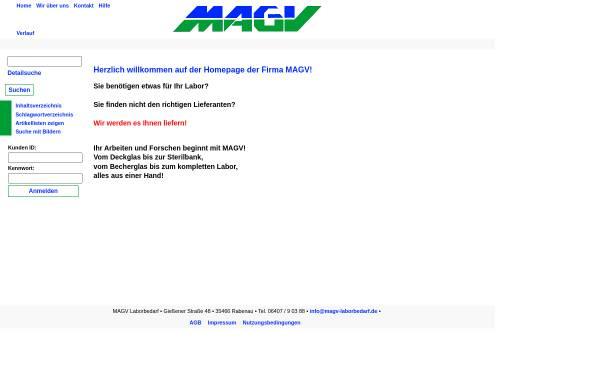 Vorschau von www.magv-gmbh.de, MAGV GmbH