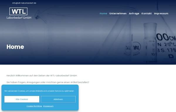 Vorschau von www.wtl-laborbedarf.de, WTL Wissenschaftlich Technischer Laborbedarf, Inh. Gunhild Schnieders und Dr. Christoph Schnieders