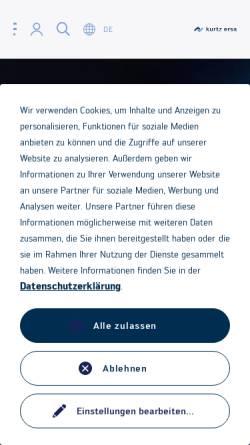 Vorschau der mobilen Webseite www.kurtz.de, Kurtz Holding GmbH & Co.