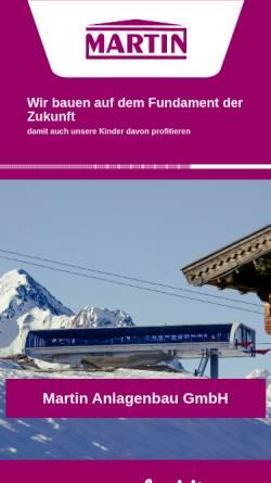 Vorschau der mobilen Webseite www.martin-austria.at, Martin Anlagenbau und Produktionsges.m.b.H. und Martin Industrie Montagebau GmbH