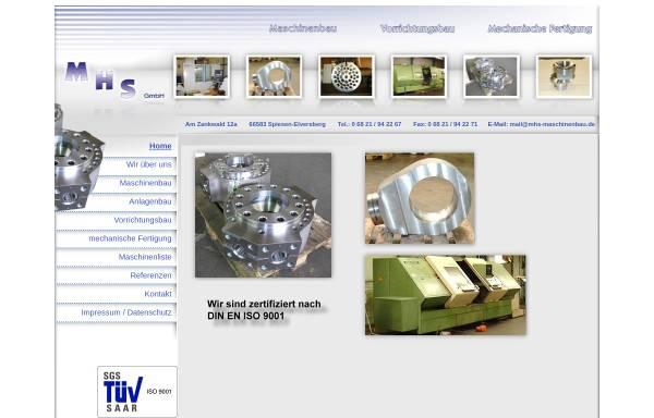 Vorschau von www.mhs-maschinenbau.de, MHS Maschinenbau GmbH