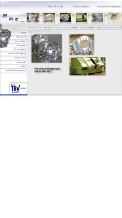 Vorschau der mobilen Webseite www.mhs-maschinenbau.de, MHS Maschinenbau GmbH